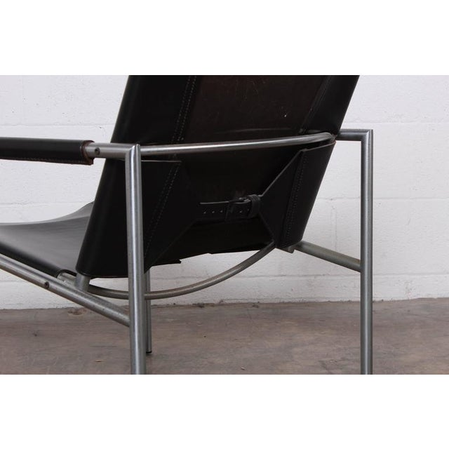 Pair of Leather Lounge Chairs by Martin Visser - Image 6 of 10