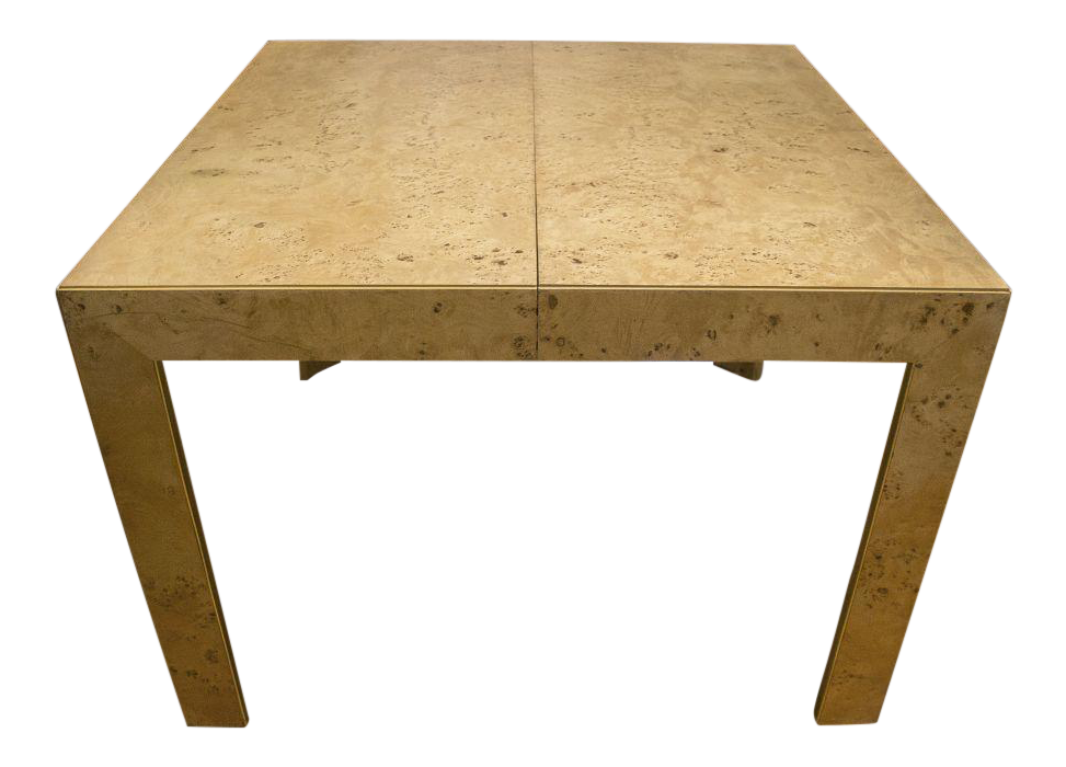 Gentil Thomasville Burl Wood Parsons Expandable Dining Table