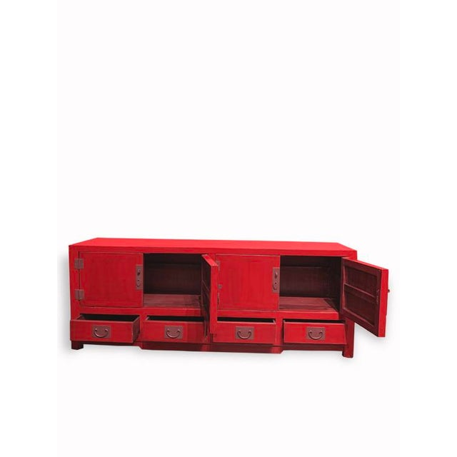 Chinese Asian Elm Shanghai Tv Cabinet For Sale - Image 3 of 5
