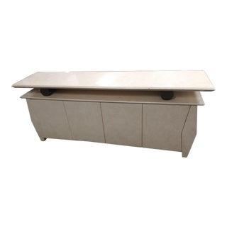 20th Century Art Deco Cream Colored Console Table For Sale