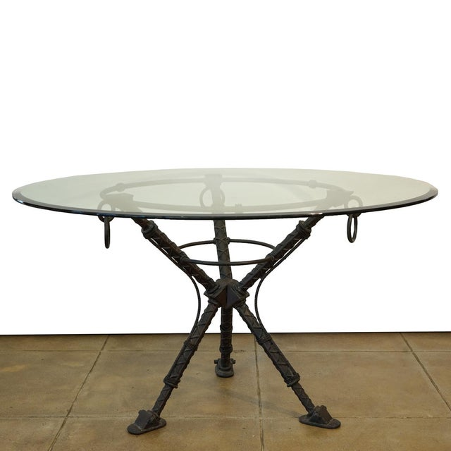 Metal Ilana Goor Dining Table For Sale - Image 7 of 7