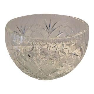 American Brilliant Cut Glass Crystal Bowl For Sale