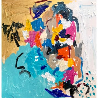 """""""Dolly Parton Me Please"""" Contemporary Abstract Expressionist Colorful Painting by Ebony Boyd For Sale"""