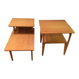 1960s Mid-Century Modern Heywood Wakefield End Tables - a Pair For Sale
