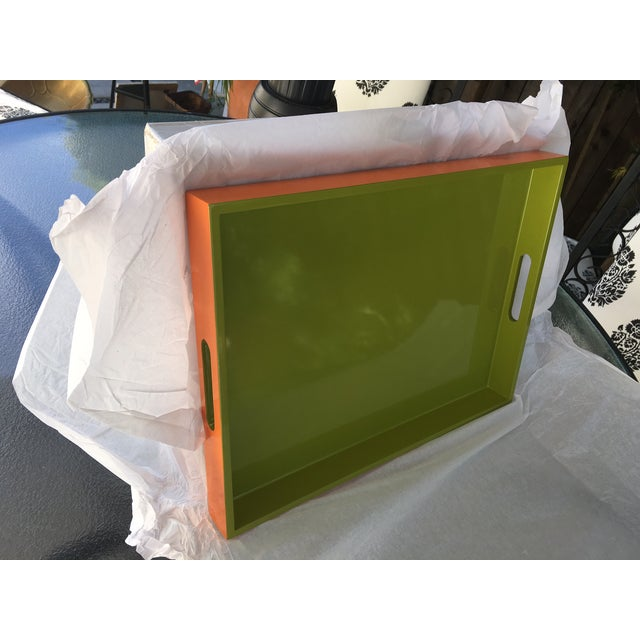 Lime Green Lacquer Tray - Image 7 of 8