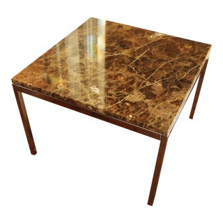 Florence Knoll Marble Top Side Table For Sale