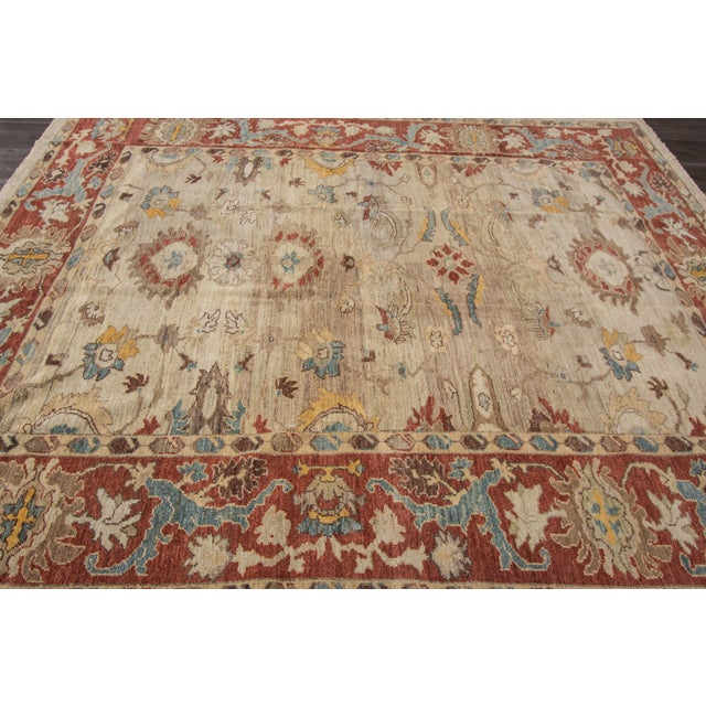 "Sultanabad Persian Rug - 8'1"" x 10'2"" For Sale In New York - Image 6 of 9"