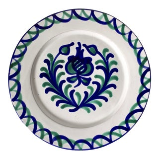 Spanish Hand-Painted Plate-Artesania Alvarez For Sale