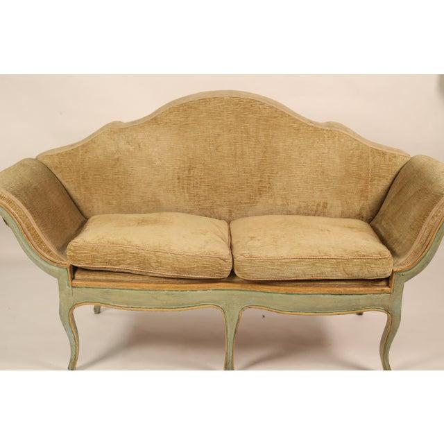 Italian Mid 19th Century Antique Camelback Piedmont Sofa For Sale - Image 3 of 9