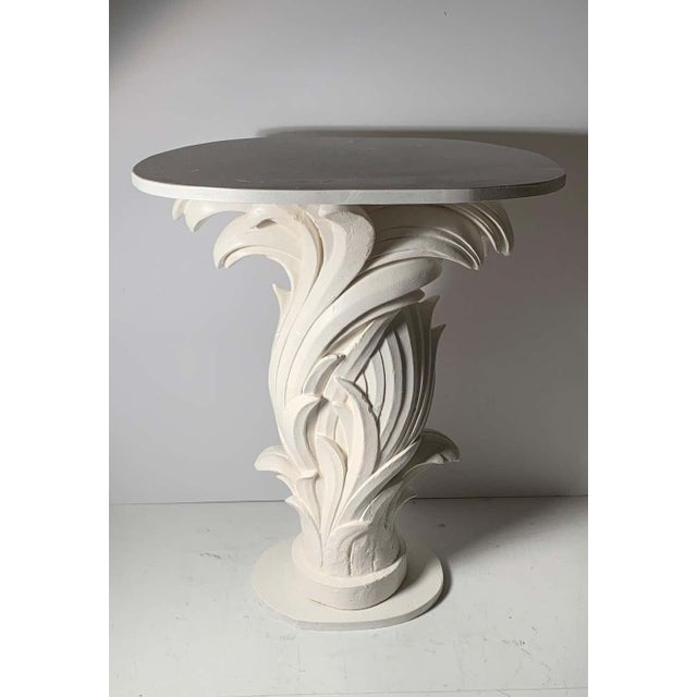 Plaster Vintage Plaster Console in manner of Serge Roche For Sale - Image 7 of 13