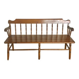 Early 20th Century Antique Wooden Bench For Sale