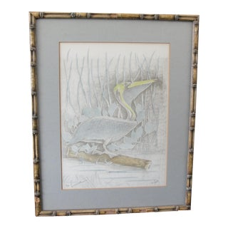 Vintage Limited Edition Print of Pelican by Don Russell For Sale