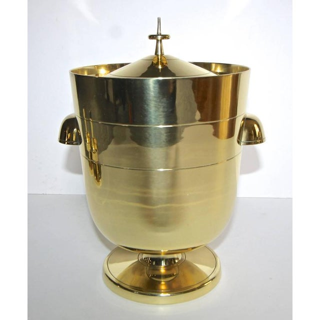 1950s Vintage Tommi Pazinger for Dorlyn Brass Ice/Champagne Bucket For Sale - Image 10 of 11