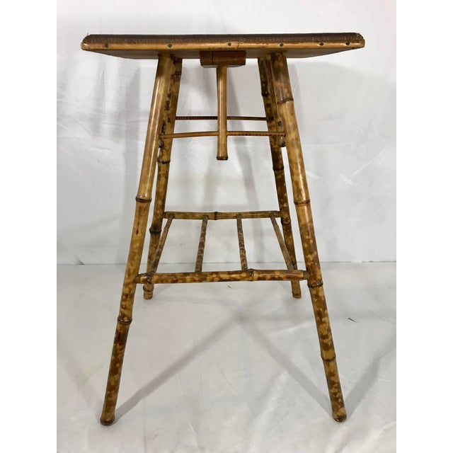 Victorian English Victorian Bamboo Side Table For Sale - Image 3 of 8