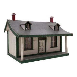 Folk Art Handmade Cape House Maquette For Sale