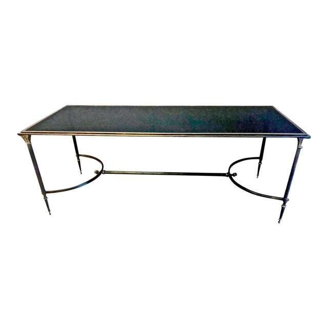 Maison Bagues Bronze and Glass Coffee Table, C. 1950-60 For Sale