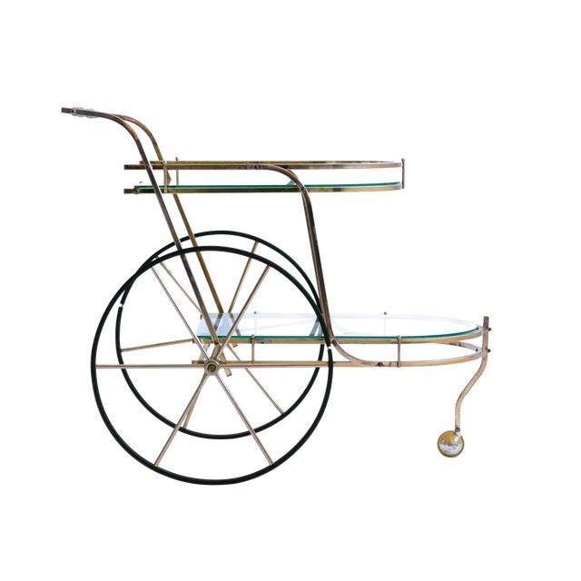 Italian Brass Bar Cart - Image 1 of 7