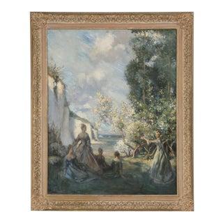 Original European Impressionist Painting C. 1900 For Sale