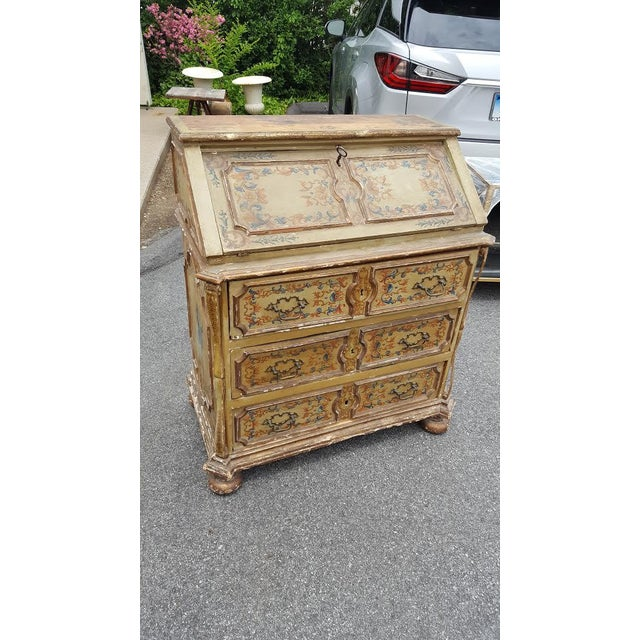 French Distressed Painted Secretary Desk - Image 3 of 11