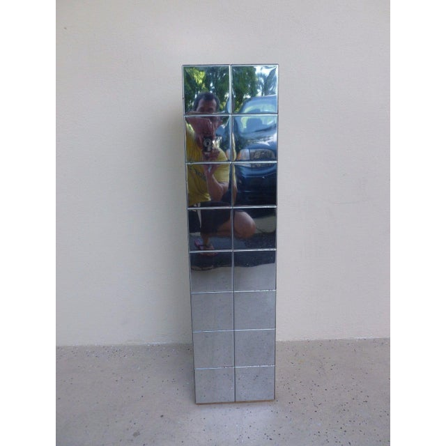 Mid-Century Modern 1970's Vintage Paul Evans Cityscape Style Chrome Patch Pedestal For Sale - Image 3 of 11