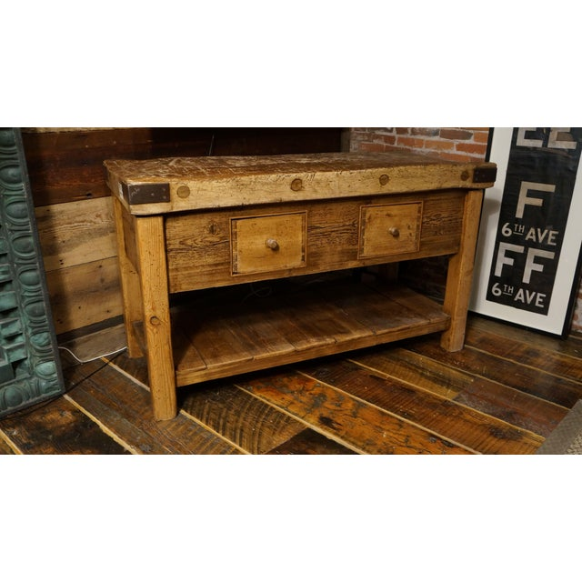 French Butcher Block Island - Image 2 of 2