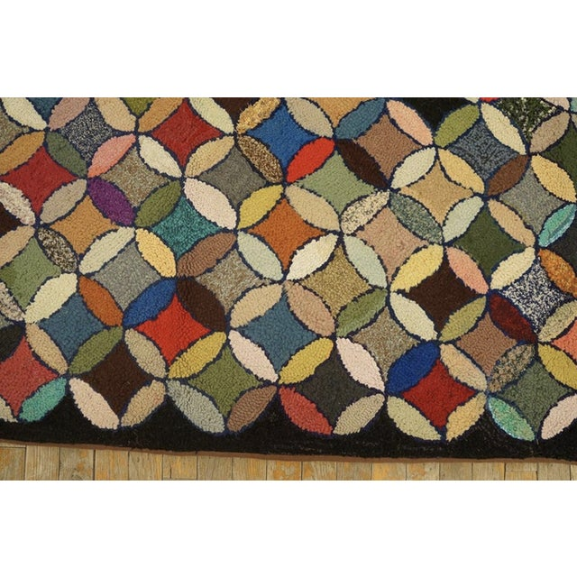 """1920s Antique American Hooked Rug 3'7"""" X 8'9"""" For Sale - Image 5 of 12"""