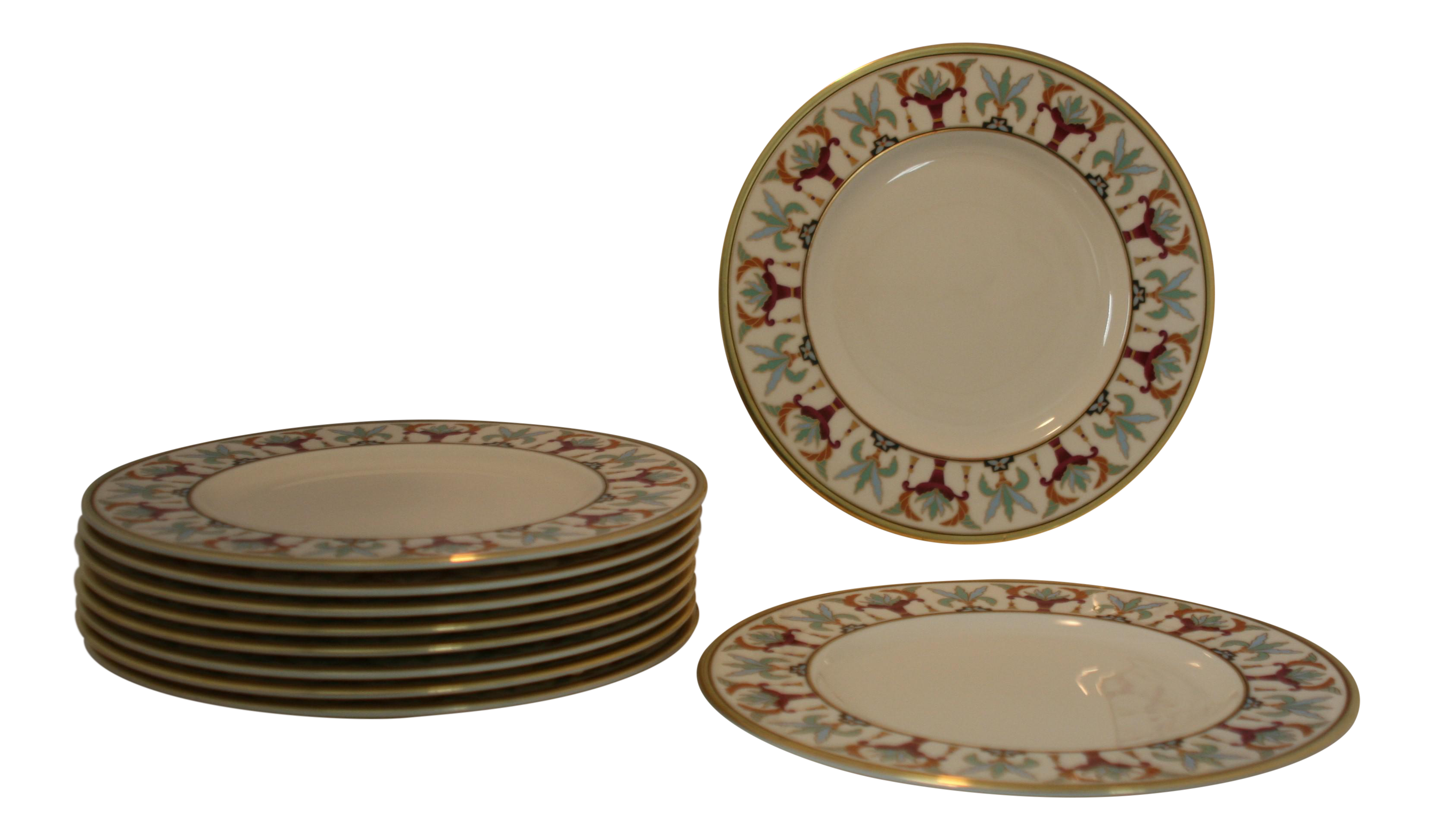 Lenox Bone China Grand Tier Collection Art Nouveau Tosca Pattern Plates - Set of 10  sc 1 st  Chairish & Lenox Bone China Grand Tier Collection Art Nouveau Tosca Pattern ...