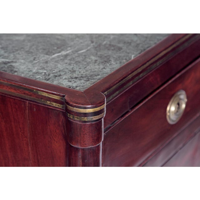 Neoclassical Chests of Drawers with Marble Tops / PAIR - Image 6 of 11