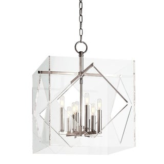Contemporary Hudson Valley Polished Nickel Finish Chandelier