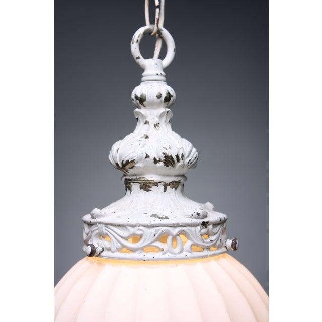 Antiqued White Globe Pendant - Image 4 of 5