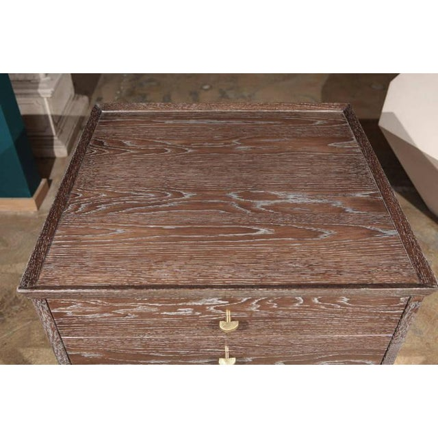 Modern Paul Marra Ceruse Oak Two-Tier Nightstand For Sale - Image 3 of 10