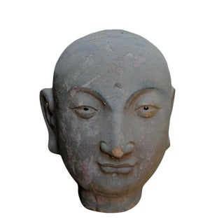 Late 19th Century Asian Antique Clay Lohan Head For Sale