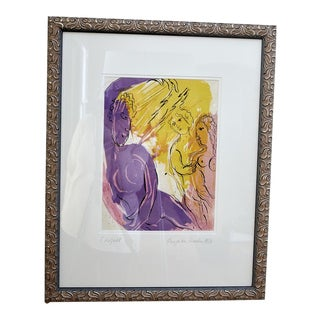 """""""Ange Au Paradis"""" Lithograph by Marc Chagall For Sale"""