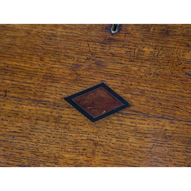 Antique English George III Period Oak Slant Front Desk circa 1760 For Sale - Image 10 of 10