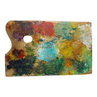"""Artist Palette"" Contemporary Mixed-Media Wooden Artist's Palette For Sale"