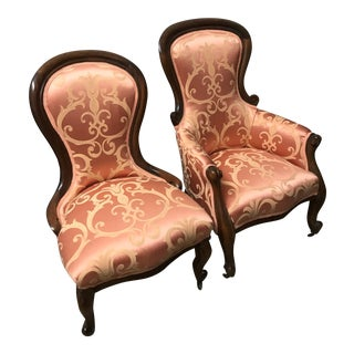 Victorian Style Chairs - A Pair For Sale