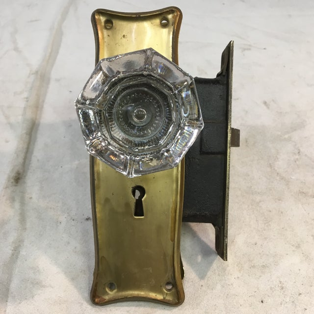 Early 20th Century Antique Early 20th Century Art Nouveau Mortise Lock Box For Sale - Image 5 of 12