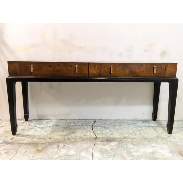 Japanese Style Console Table ~ Burlwood asian style console table chairish