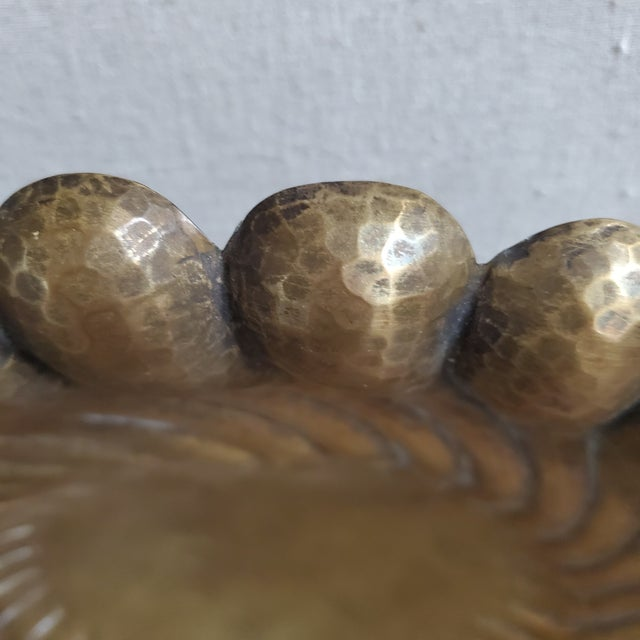 Egidio Casagrande Italian Brass Footed Bowl For Sale - Image 4 of 9