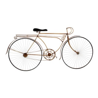 Vintage 80's Curtis Jere Bicycle Wall Sculpture - Signed and Dated For Sale