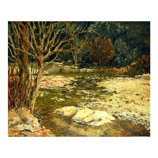 Impressionist Forest Stream For Sale