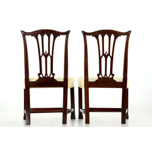18th Century Chippendale Period Mahogany Side Chairs - a Pair - Image 3 of 10