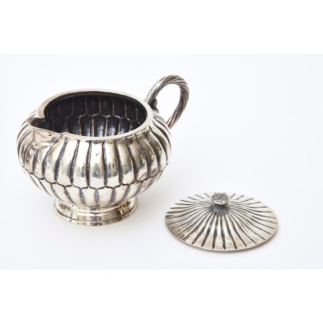Silver Sterling Silver Hallmarked Sanborn Tea/Coffee Service For Sale - Image 8 of 10