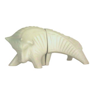 1990s Jonathan Adler Bull Figurine For Sale