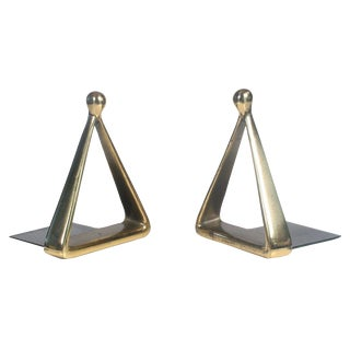 Bronze Triangle Bookends by Ben Seibel For Sale