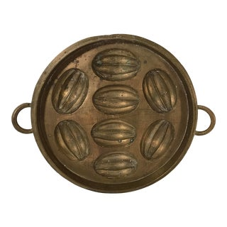 Early 20th Century Antique Chinese Brass Mooncake Mold For Sale