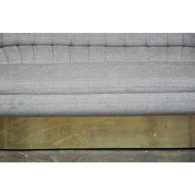 Gorgeous settee by Vladimir Kagan. Fully restored and reupholstered.