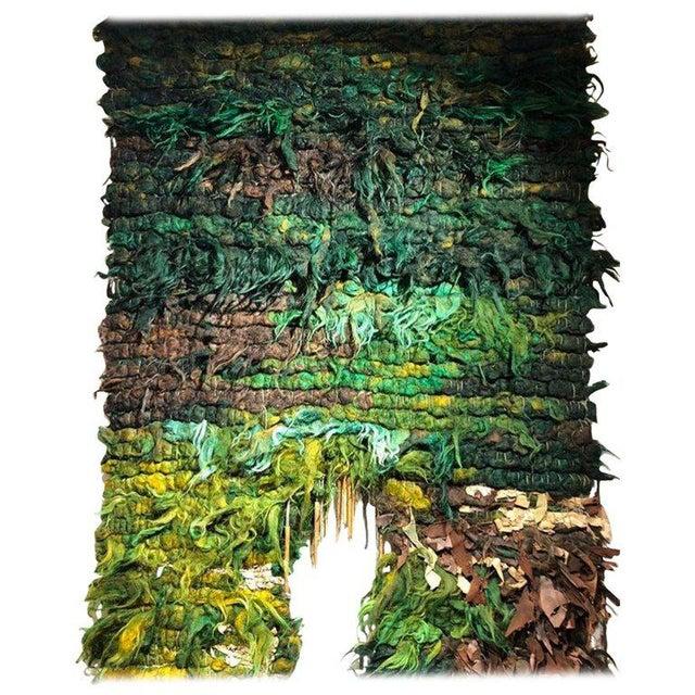 Green Tapestry Catalan School Josep Grau-Garriga, Spain, 1970 For Sale - Image 8 of 8