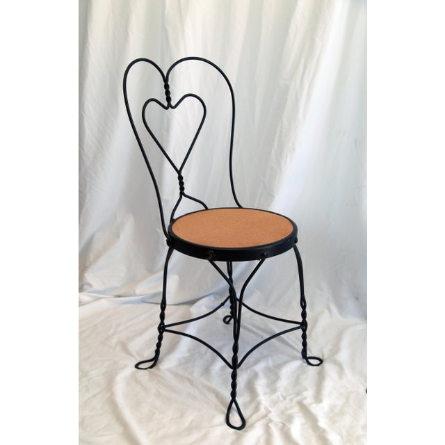 1950s Vintage Ice Cream Parlor Chairs- a Pair For Sale - Image 4 of 6