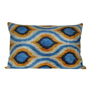 Silk Ikat Velvet Pillow